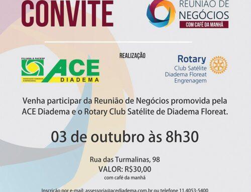 Convite Reunião de Negócios Rotary Club