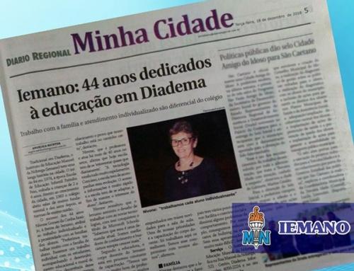Clipping de matéria de jornal – Colégio IEMANO